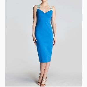 Ted Baker London Saphie Blue Buckle Body Con Dress